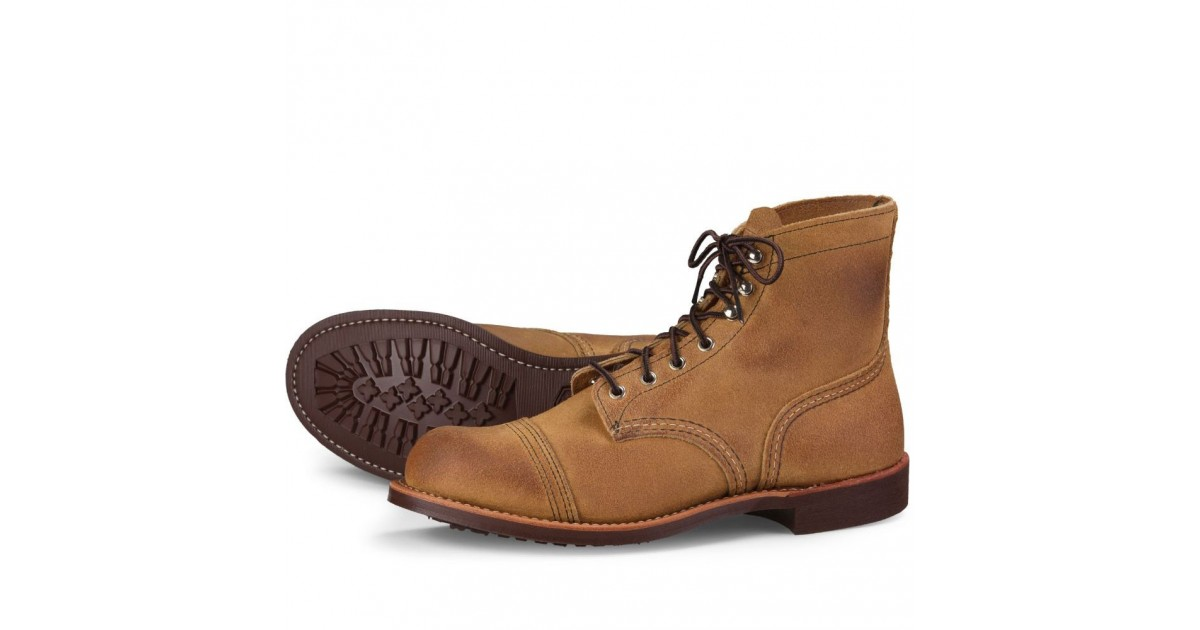 Iron Cuir Homme en Ranger Boots Wing Red 8083 5AR43jL