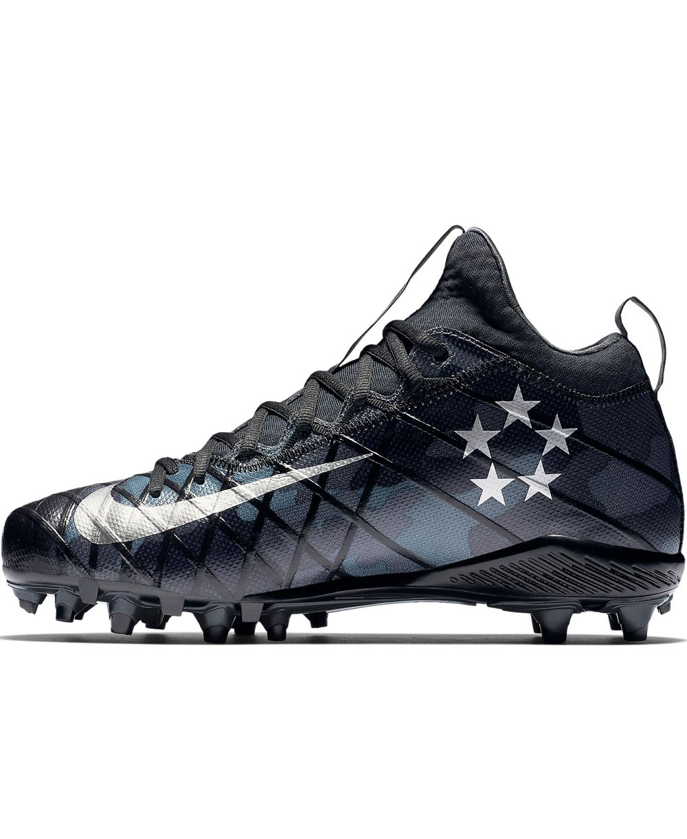 purchase cheap c5fea dfdca Nike - American Football Cleats for men, model Alpha Field General Elite  Camo, colour Black Anthracite Dark Grey Metallic Silver