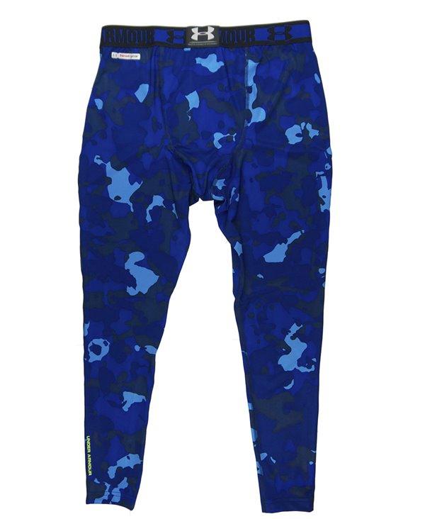 HeatGear Sonic Men's Leggings Blue Print