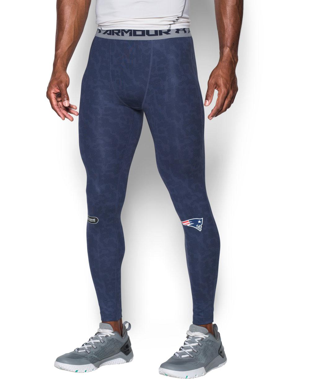 NFL Combine Authentic HeatGear Armour Leggings Uomo New England Patriots