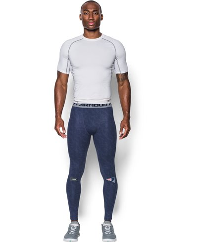 NFL Combine Authentic HeatGear Armour Herren Leggings New England Patriots