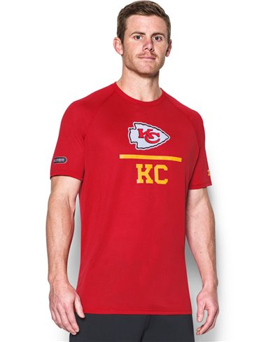Men's Short Sleeve T-Shirt NFL Combine Authentic Lockup Kansas City Chiefs