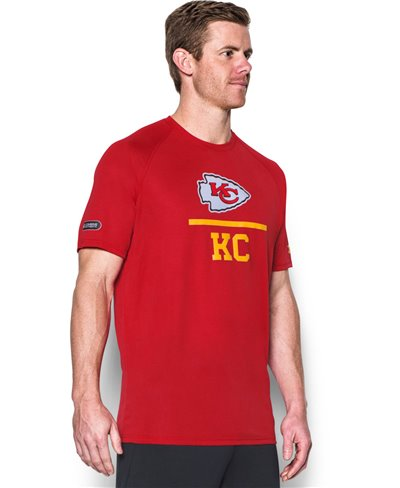 Men's Short Sleeve T-Shirt NFL Combine Authentic Lockup Kansas City Chiefs