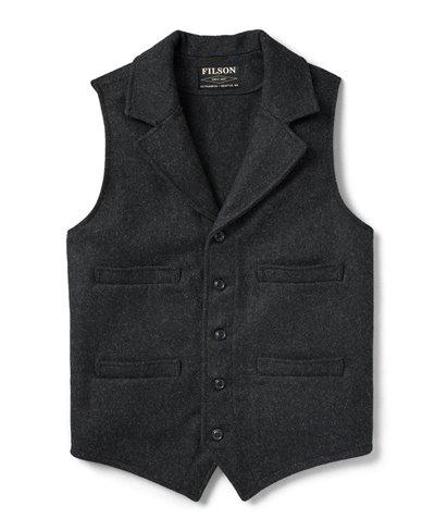 Men's Wool Vest Western Charcoal