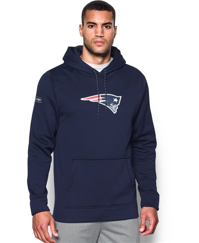 NFL Combine Authentic Felpa con Cappuccio Uomo New England Patriots