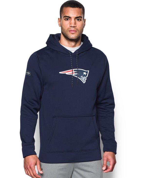 NFL Combine Authentic Felpa con Cappuccio Uomo New England Patriots
