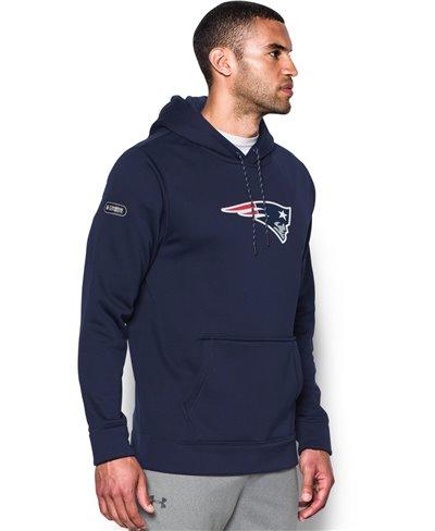 NFL Combine Authentic Sudadera con Capucha para Hombre New England Patriots