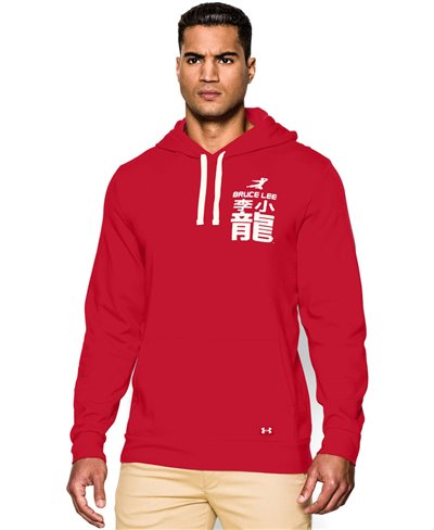 Men's Hoodie Bruce Lee Roots Of Fight Red