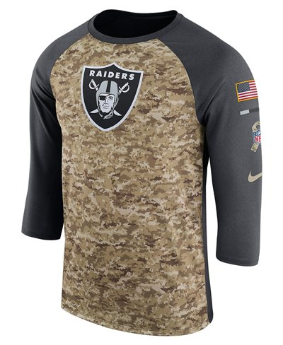 Dry Legend STS Raglan Camiseta para Hombre NFL Raiders