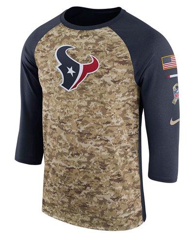 Herren T-Shirt Dry Legend STS Raglan NFL Texans