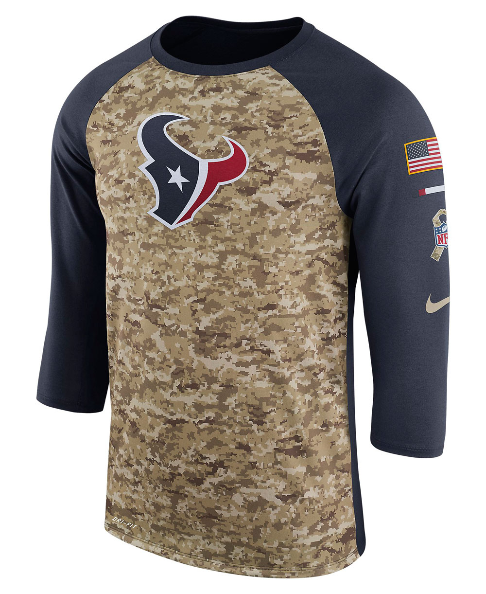 Dry Legend STS Raglan T-Shirt Uomo NFL Texans