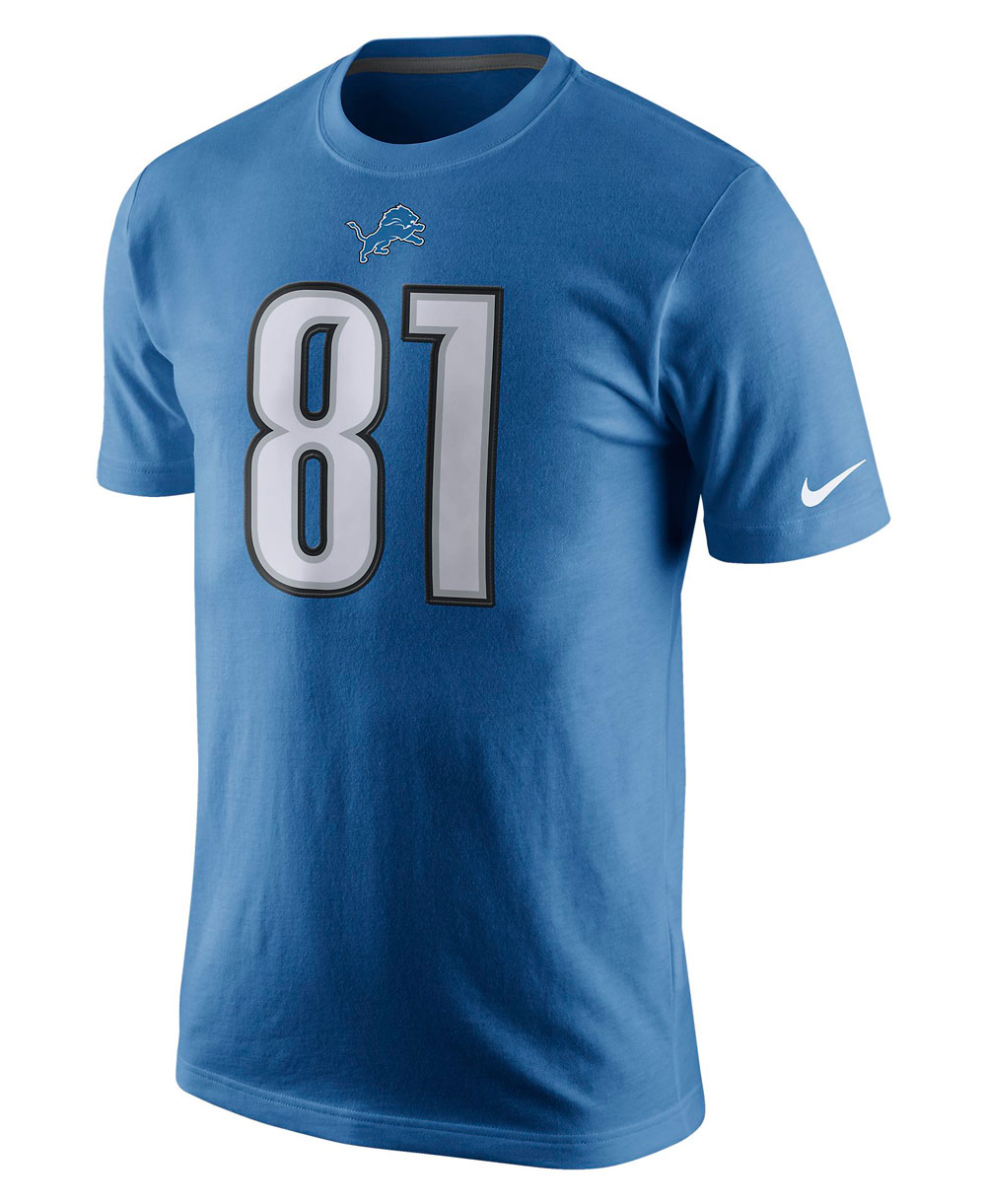 Herren T-Shirt Player Pride Name and Number NFL Lions / Calvin Johnson