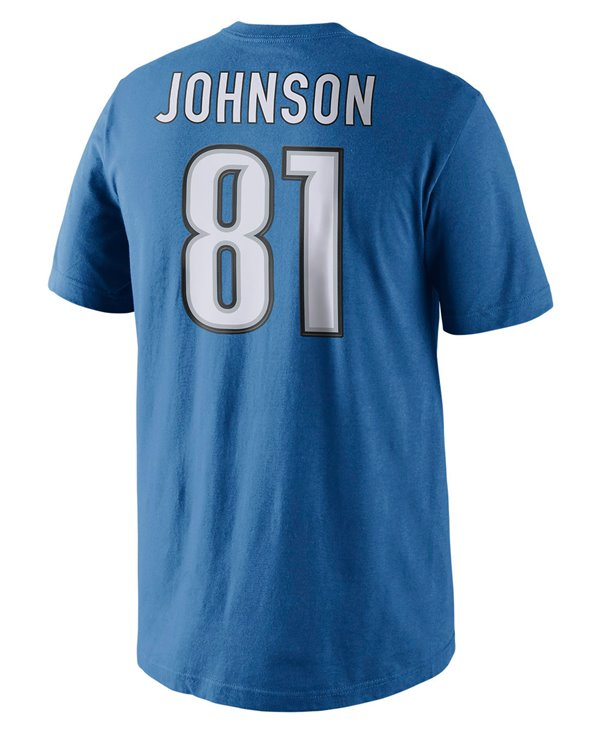 Player Pride Name and Number T-Shirt Homme NFL Lions / Calvin Johnson