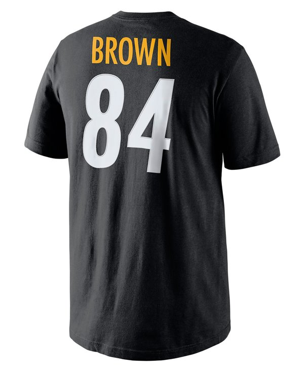 Player Pride Name and Number T-Shirt Homme NFL Steelers / Antonio Brown