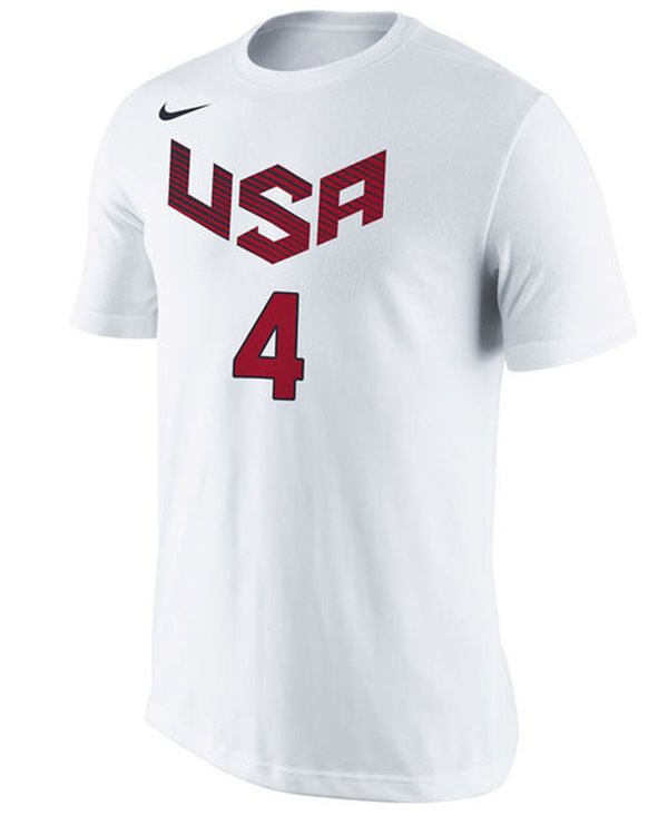 Men's T-Shirt USA Basketball Name and Number Stephen Curry