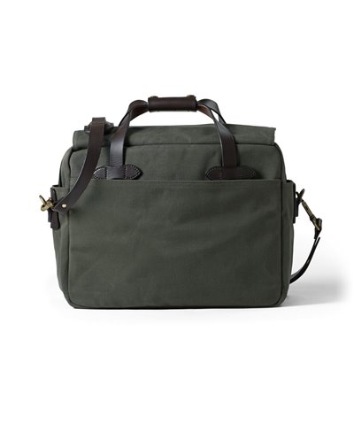 Rugged Twill Borsa Computer Uomo Otter Green