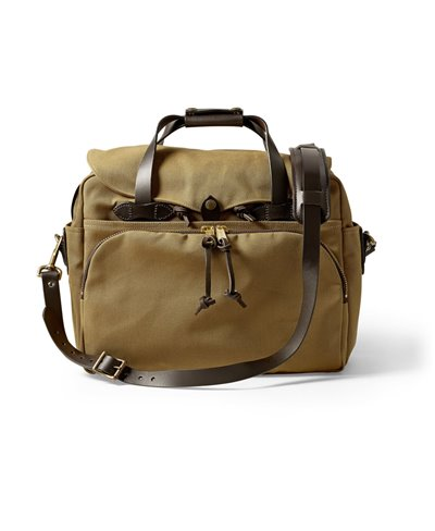 Herren Rugged Twill Laptop-Tasche Tan