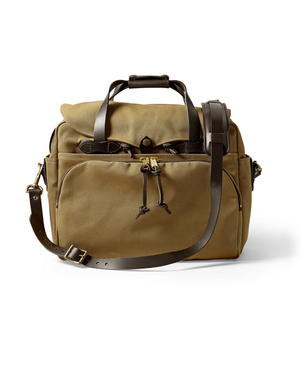 Rugged Twill Borsa Computer Uomo Tan