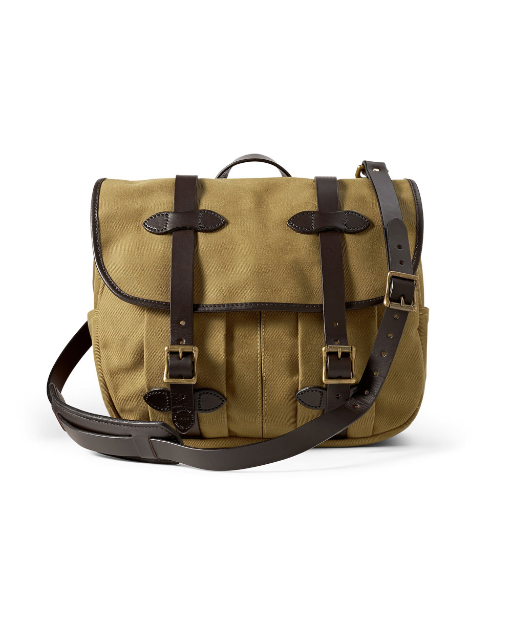 Medium Rugged Twill Borsa da Lavoro Uomo Tan
