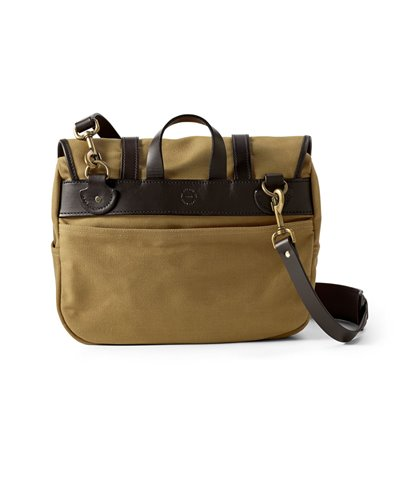 Medium Rugged Twill Sac Porte-documents Homme Tan