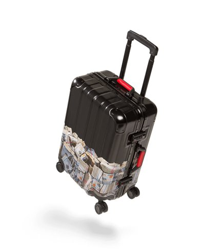 "Money Rolled 22"" Carry-On Suitcase 4 Wheels TSA Lock"