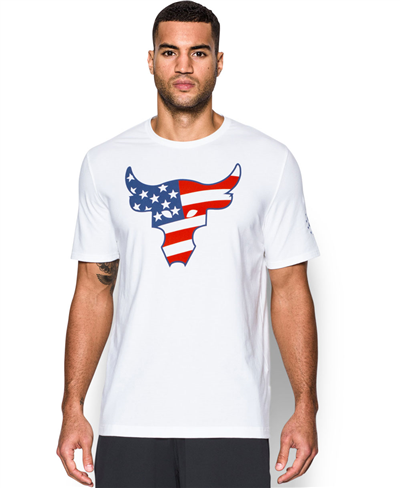 Herren Kurzarm T-Shirt Freedom Rock The Troops White