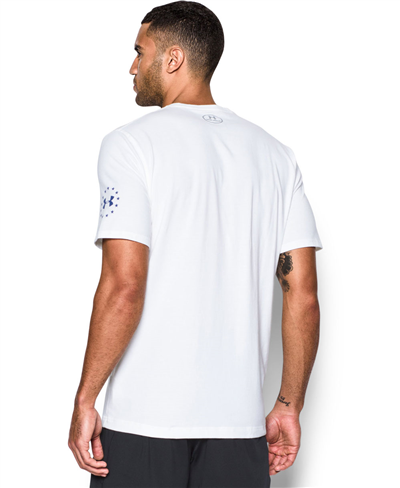 Freedom Rock The Troops Camiseta Manga Corta para Hombre White