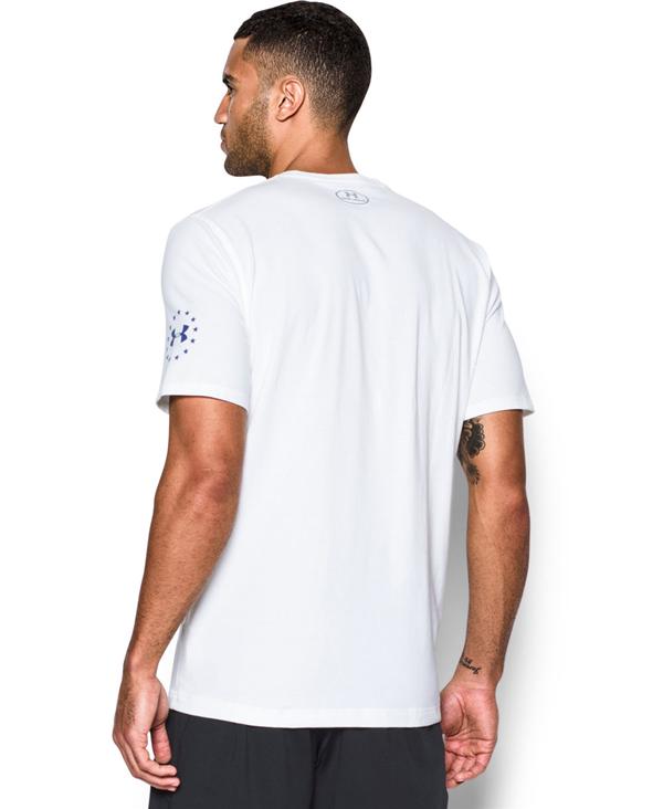 Herren Kurzarm T-Shirt Freedom Rock The Troops White