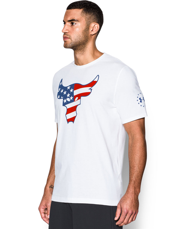 Freedom Rock The Troops T-Shirt Manica Corta Uomo White