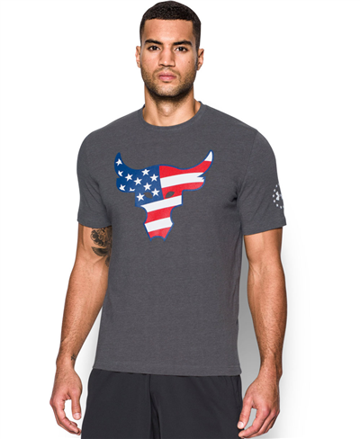Herren Kurzarm T-Shirt Freedom Rock The Troops Carbon Heather