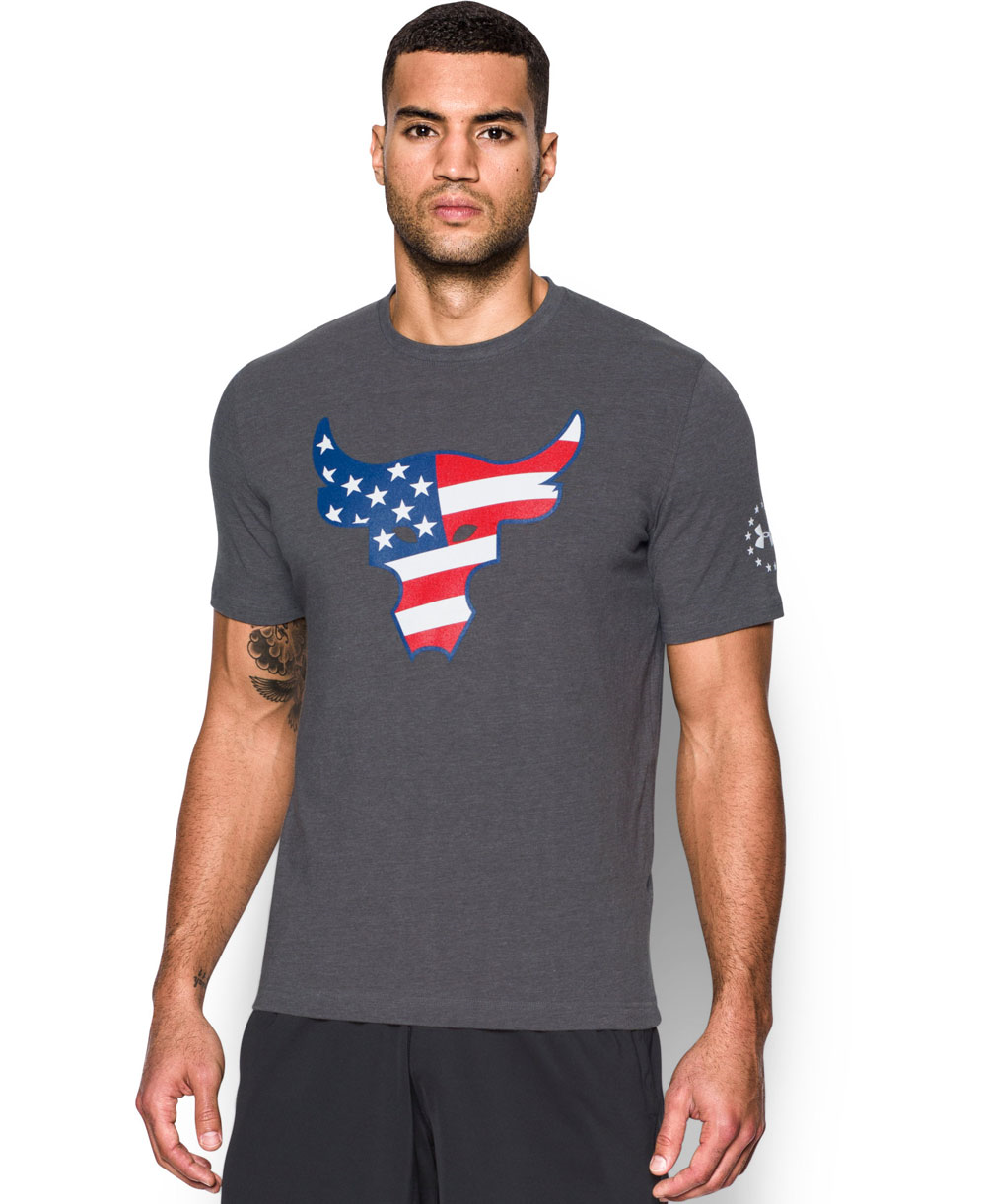 Freedom Rock The Troops T-Shirt à Manches Courtes Homme Carbon Heather
