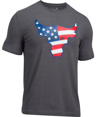 Herren Kurzarm T-Shirt Freedom Rock The Troops Carbon Heather