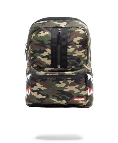 One Strap Side Shark Backpack Camo