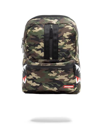One Strap Side Shark Backpack Camo
