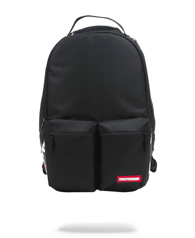 Double Cargo Side Shark Rucksack Black