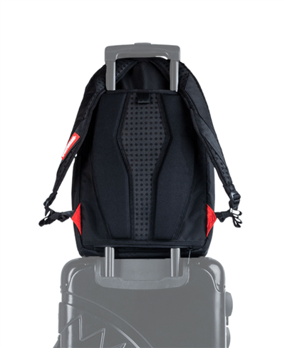 Double Cargo Side Shark Backpack Black