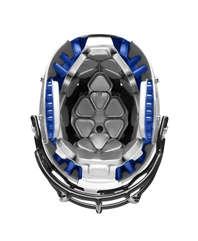 Team Vengeance SL-DCT Casco para Fútbol Americano Metallic Silver