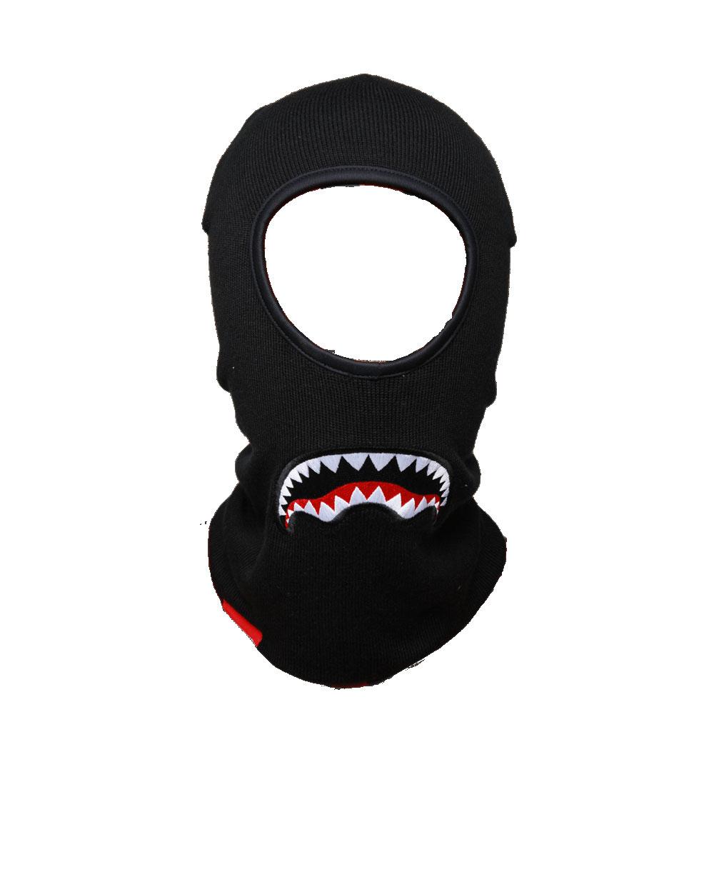 Herren Balaklava Sharkmouth Black