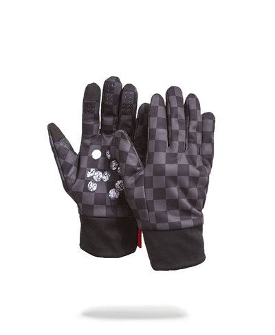 Men's Gloves Diamonds in Palm Black
