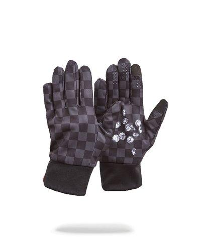 Men's Gloves Diamonds in Palm Black