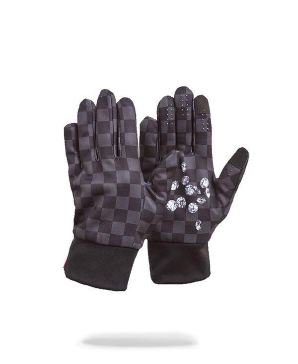Diamonds in Palm Guanti Uomo Black