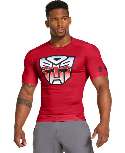 Alter Ego Men's Short Sleeve Compression Shirt Transformers Autobots Classic