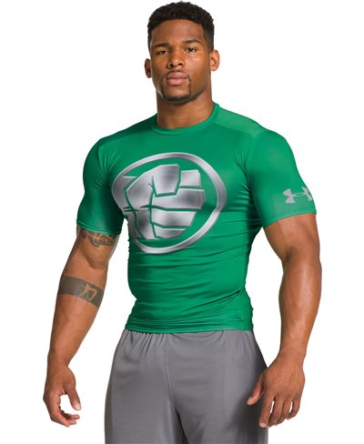 Alter Ego Herren Kurzarm Kompressions-Shirt  Hulk Chrome