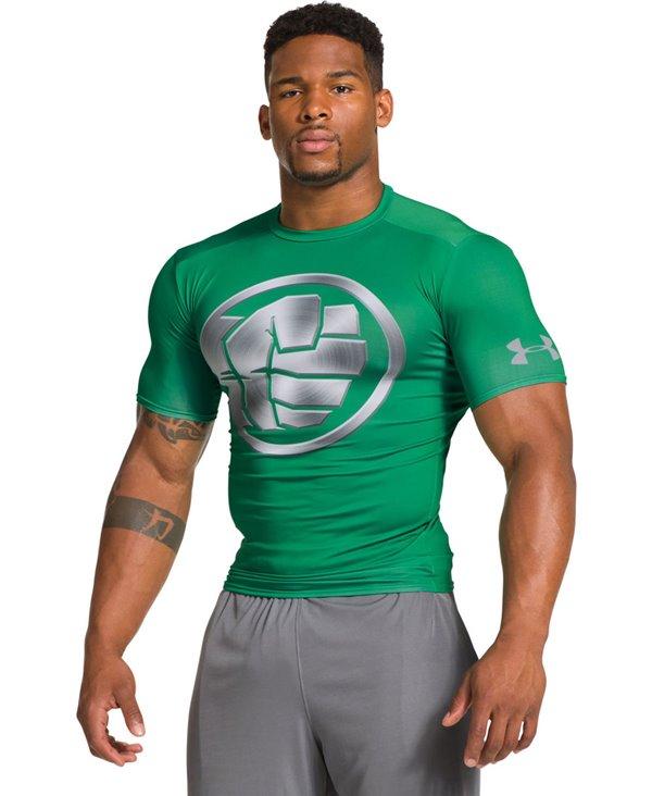 Alter Ego Camiseta de Compresión Manga Corta para Hombre Hulk Chrome