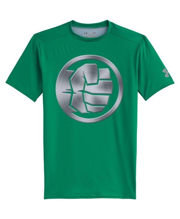 Alter Ego Herren Kurzarm Kompressions-Shirt  Hulk Chrome