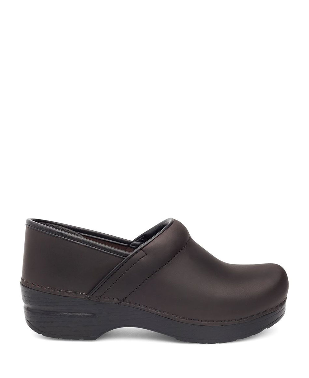 autorizzazione ufficiale Dansko Dansko Dansko - Professional Oiled Leather Zoccoli in Pelle Donna Antique Marrone nero  marchio in liquidazione
