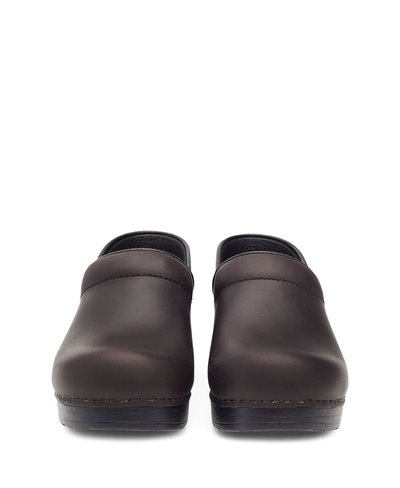 Women's Professional Oiled Leather Clogs in Wheat Antique Brown/Black