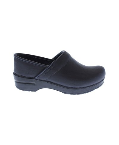 Damen Professional Oiled Leather Leder Clogs Blueberry
