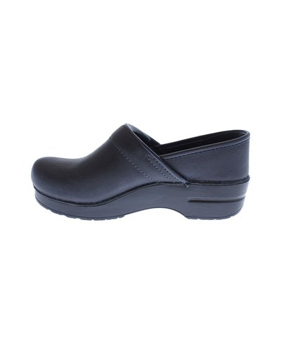 Professional Oiled Leather Zuecos de Piel para Mujer Blueberry