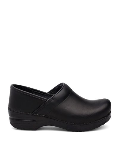 Women's Professional Leather Clogs in Wheat Black Cabrio